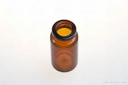 Bottle 10ml Septum Top Amber 394 Amidite 13mm ID x 20mm OD Top