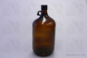 Bottle 4L Amber 38-430mm Cap Plastic Coated