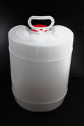 Waste Carboy 5 Gallon Drum Transparent 70 mm Cap Size