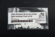 Filter Element 30 um for in-line filter housing - Pack of 30