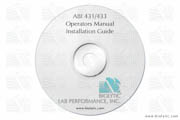 Operators Manual CD Installation Guide 4 for the 431 / 433